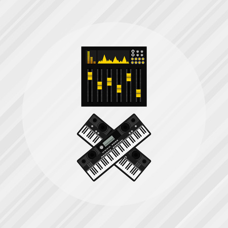 instrument panel: musical production design, vector illustration eps10 graphic