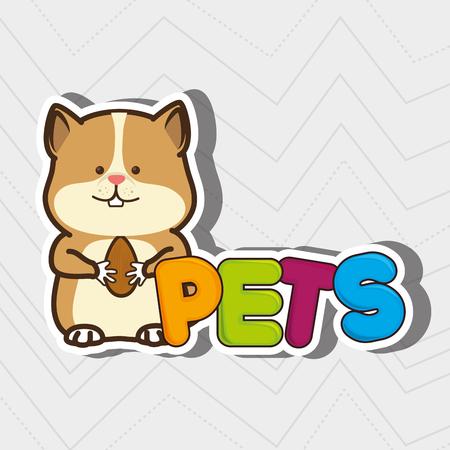 graphic illustration: cute pets design, vector illustration eps10 graphic