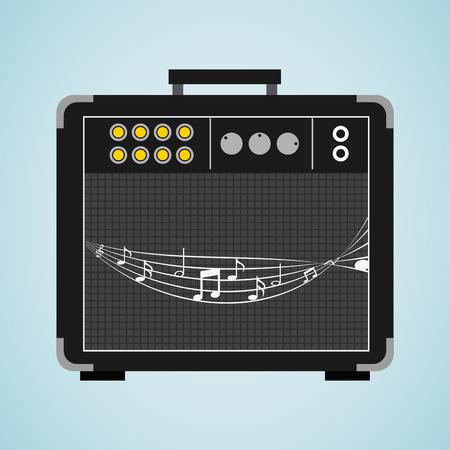 audio plug: musical production design, vector illustration eps10 graphic