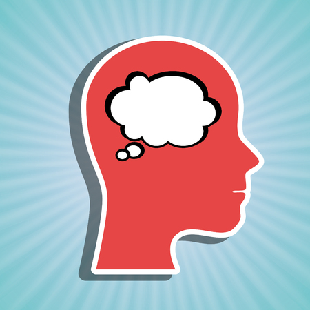 contemplate: people thinking design, vector illustration eps10 graphic