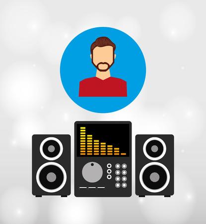 show plant: music lifestyle design, vector illustration eps10 graphic