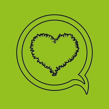 graphic illustration: love heart design, vector illustration eps10 graphic