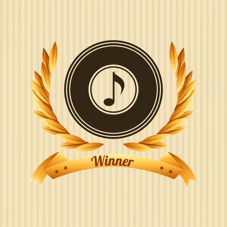gold record: Music Awards design, vector illustration eps10 graphic