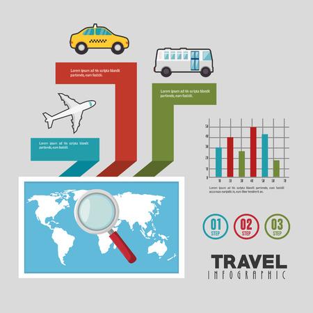 travel infographics design, vector illustration eps10 graphic Illustration