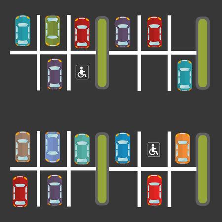 aparcamiento de diseño mucho, ejemplo gráfico del vector eps10