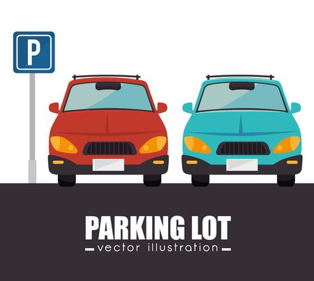 parkeerplaats ontwerp, vector illustratie eps10 grafische