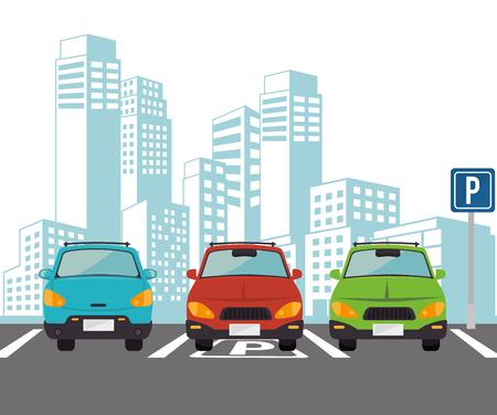diseño de estacionamiento, gráfico de vector ilustración eps10