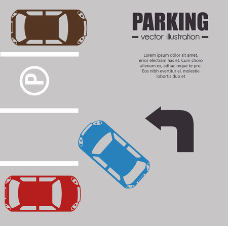 a lot: parking lot design, vector illustration eps10 graphic