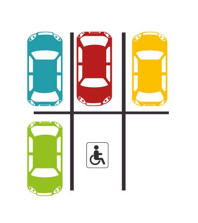 graphic illustration: parking lot design, vector illustration eps10 graphic
