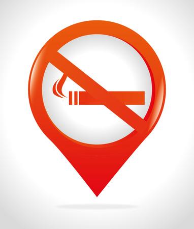 abstain: no smocking design, vector illustration eps10 graphic Illustration