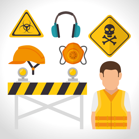 personal protective equipment: security industrial design, vector illustration eps10 graphic