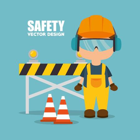 la seguridad del diseño industrial, gráfico ilustración vectorial eps10