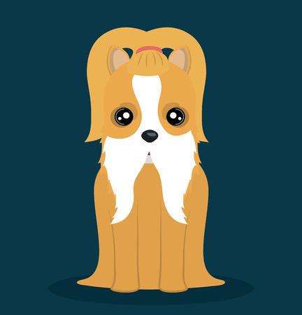 graphic illustration: cute dog design, vector illustration eps10 graphic