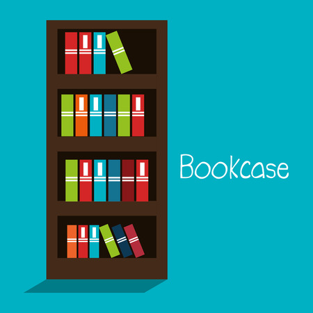 bookcase: bookcase isolated design, vector illustration eps10 graphic