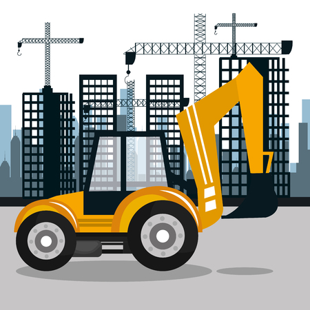 mover: construction machinery design, vector illustration eps10 graphic