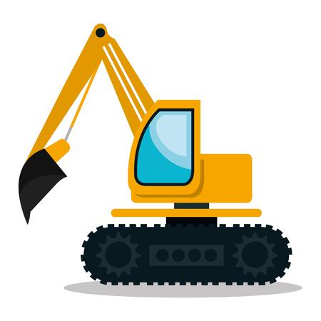 conception de machines de construction, vecteur illustration graphique eps10