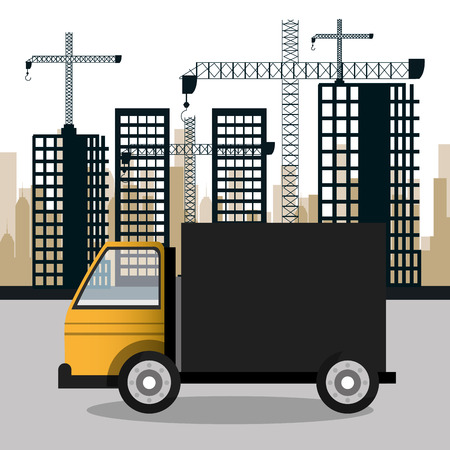 graphic illustration: construction machinery design, vector illustration eps10 graphic