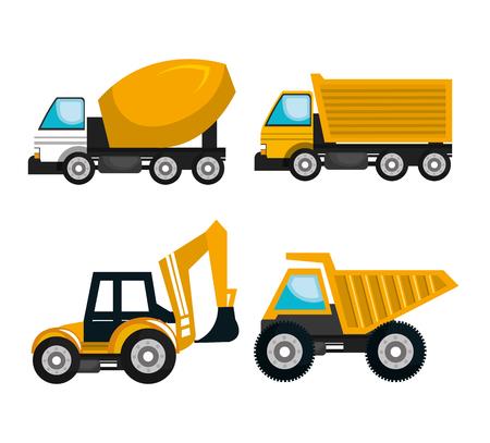 Conception de machines de construction, vecteur illustration graphique eps10 Banque d'images - 57055076