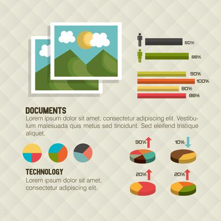 graphic illustration: retro infographic design, vector illustration eps10 graphic Illustration