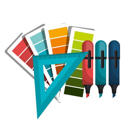 architectural studies: instruments architecture design, vector illustration eps10 graphic Illustration