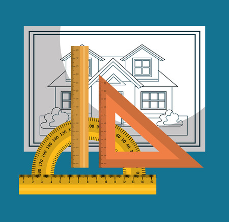 architecture: instruments architecture design, vector illustration eps10 graphic Illustration