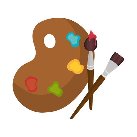 pallette: paint pallette  design, vector illustration eps10 graphic Illustration