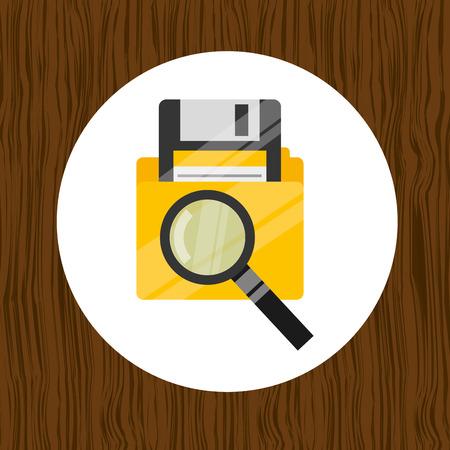hard to find: data storage design, vector illustration eps10 graphic Illustration