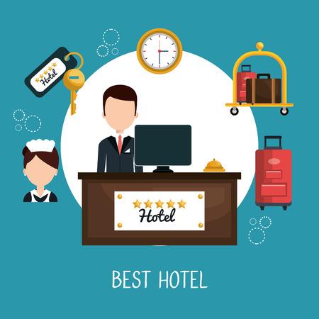 amenities: hotel service design, vector illustration eps10 graphic