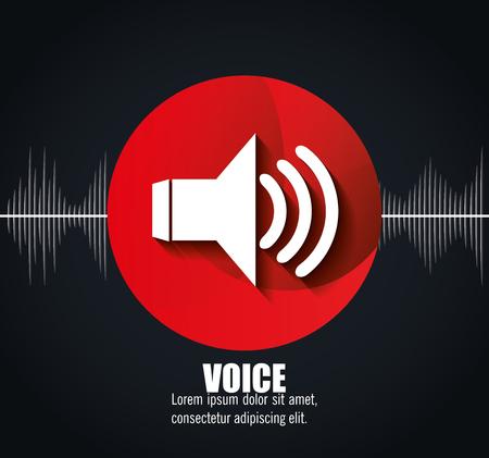 messages: voice messages design, vector illustration eps10 graphic Illustration
