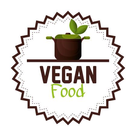 graphic illustration: vegan food design, vector illustration eps10 graphic Illustration