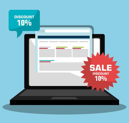online advertising: online advertising design, vector illustration eps10 graphic Illustration