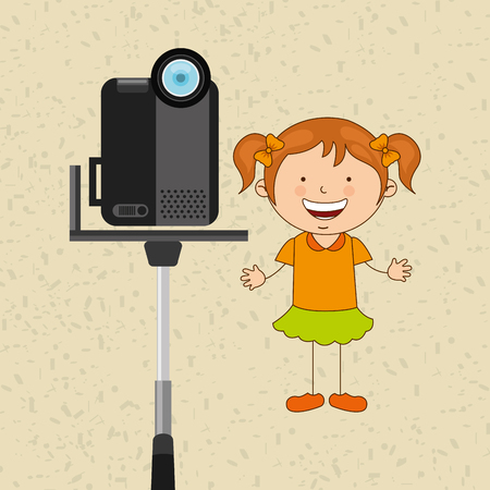 handycam: children and camera design, vector illustration eps10 graphic