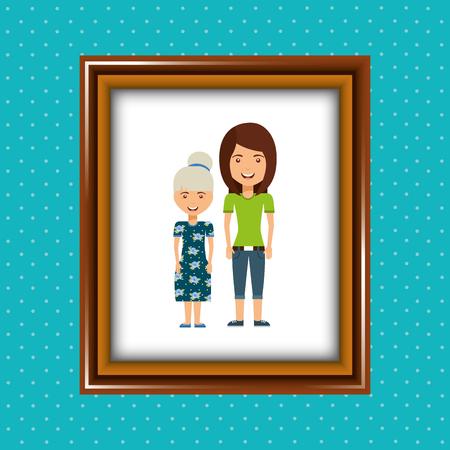 diseño de la imagen de los padres, ejemplo gráfico del vector eps10