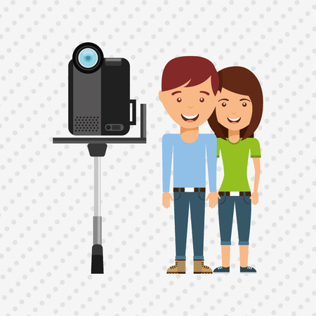 filming: family video camera design, vector illustration eps10 graphic