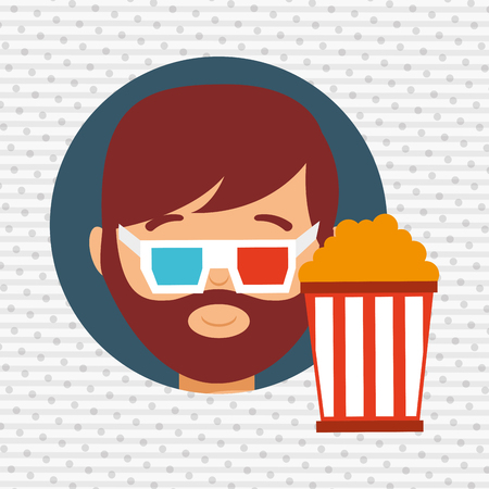 and viewer: movie viewer design, vector illustration eps10 graphic