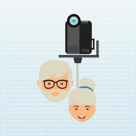 illustration cool: family video camera design, vector illustration eps10 graphic