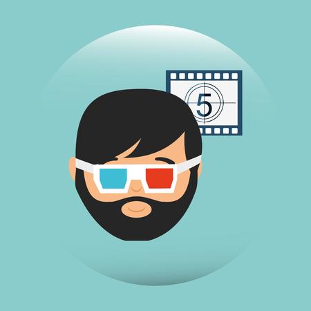 viewer: movie viewer design, vector illustration eps10 graphic