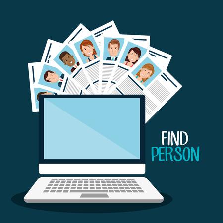 headhunter: find person design, vector illustration eps10 graphic