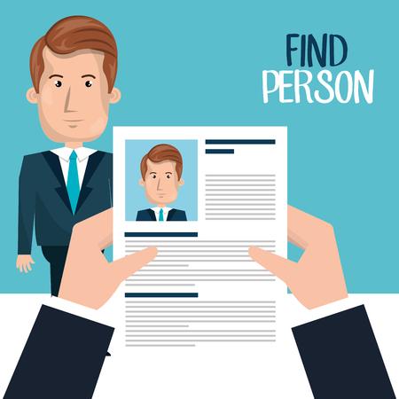 find person design, vector illustration eps10 graphic Ilustracje wektorowe