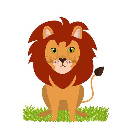 leon de dibujos animados: diseño salvaje león, ejemplo gráfico del vector eps10 Vectores