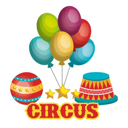 circus caravan: circus show design, vector illustration eps10 graphic Illustration