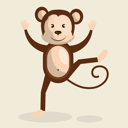 graphic illustration: funny monkey design, vector illustration eps10 graphic