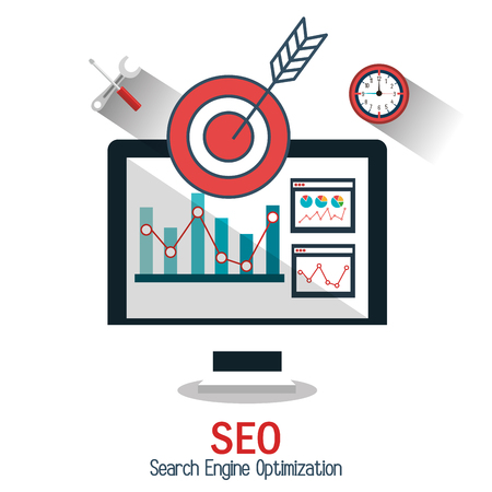 icons site search: search engine optimization design, vector illustration eps10 graphic Illustration
