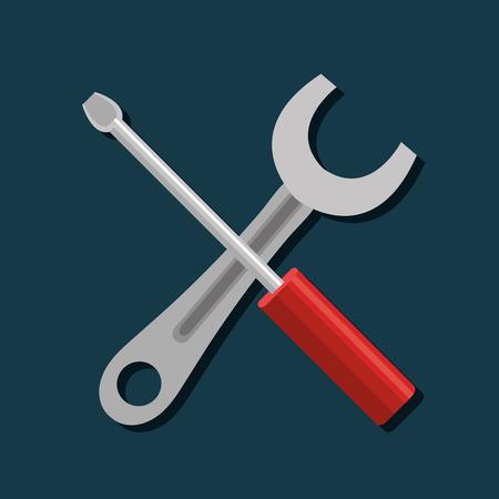 graphic illustration: repair service design, vector illustration eps10 graphic