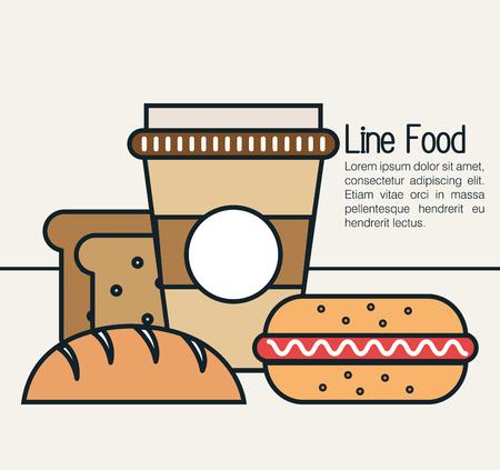 graphic illustration: line food  design, vector illustration eps10 graphic