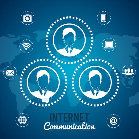 graphic illustration: internet communication design, vector illustration eps10 graphic