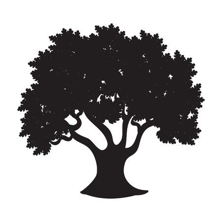 graphic illustration: tree isolated  design, vector illustration eps10 graphic Stock Photo