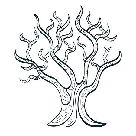 graphic illustration: tree isolated  design, vector illustration eps10 graphic Illustration