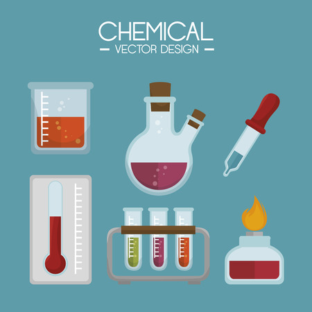 a solution tube: chemical industry design, vector illustration eps10 graphic Illustration