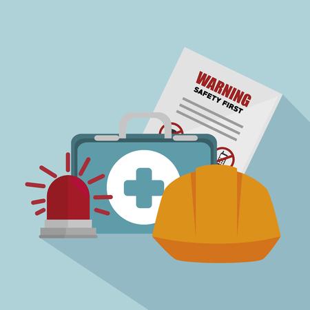hard cap: safety equipment design, vector illustration eps10 graphic